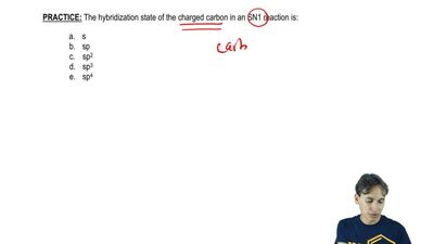 The hybridization state of the charged carbon in an S N1 reaction is:   	s 	sp...