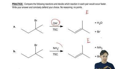 Compare the following reactions and decide which reaction in each pair would o...