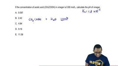If the concentration of acetic acid (CH 3COOH) in vinegar is 0.80 mol/L, calcu...