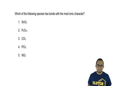 Which of the following species has bonds with the most ionic character?  1. Sn...