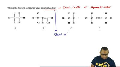 Which of the following compounds would be optically active?   ...