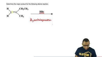 Determine the major product for the following alkene reaction.   ...