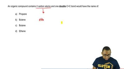 An organic compound contains 2 carbon atoms and one double C=C bond would have...