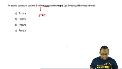 An organic compound contains 3 carbon atoms and one triple C≡C bond would have...