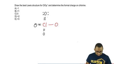 Draw the best Lewis structure for ClO 4 – and determine the formal charge on c...