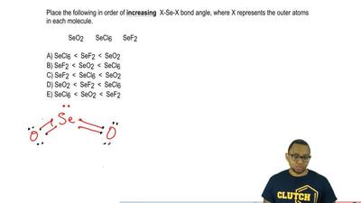 Place the following in order of  increasing X-Se-X bond angle, where X represe...