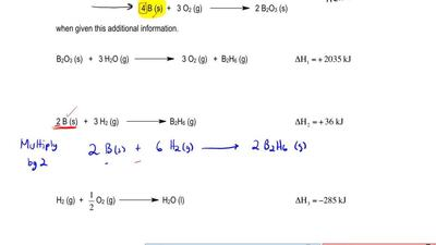Calculate the enthalpy of the following reaction: ...