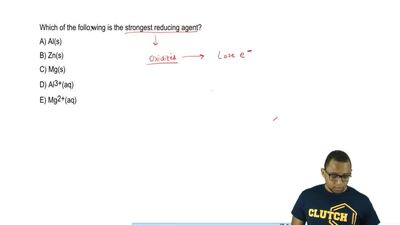 Which of the following is the strongest reducing agent?  A) Al(s)  B) Zn(s)  C...