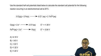 Use the standard half-cell potentials listed below to calculate the standard c...
