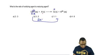 What is the ratio of oxidizing agent to reducing agent?  Ca2+ (aq) + Al (s)  ...