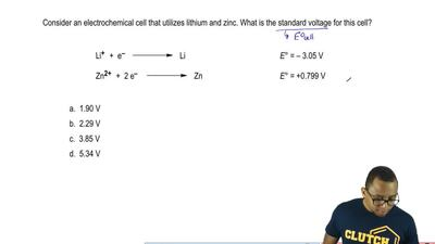 Consider an electrochemical cell that utilizes lithium and zinc. What is the s...