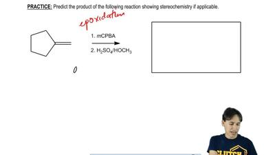 Predict the product of the following reaction showing stereochemistry if appli...