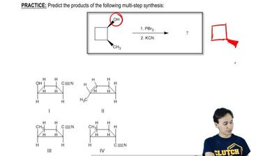 Predict the products of the following multi-step synthesis:   ...