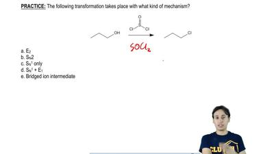 The following transformation takes place with what kind of mechanism?  a. E2  ...