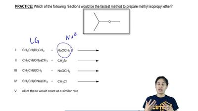 Which of the following reactions would be the fastest method to prepare methyl...