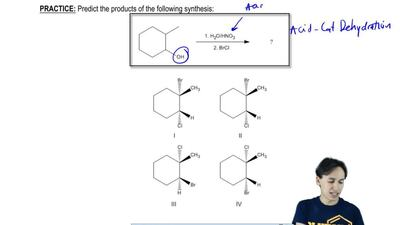 Predict the products of the following synthesis:   ...