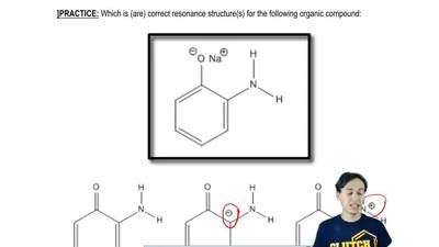 Which is (are) correct resonance structure(s) for the following organic compou...