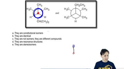 How are the molecules shown below related to each other?  a. They are constitu...
