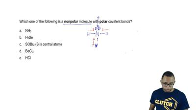 Which one of the following is a nonpolar molecule with polar covalent bonds?  ...