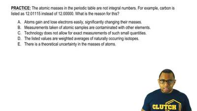 The atomic masses in the periodic table are not integral numbers. For example,...