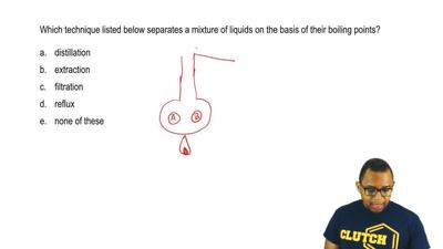 Which technique listed below separates a mixture of liquids on the basis of th...