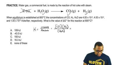 Water gas, a commercial fuel, is made by the reaction of hot coke with steam. ...