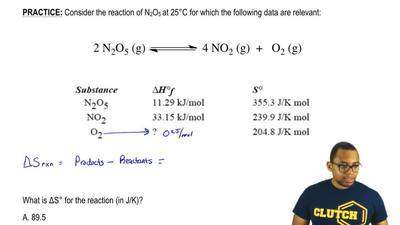 Consider the reaction of N2O5 at 25°C for which the following data are relevan...