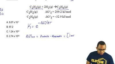 Given the following free energies of formation calculate Kp at 298 K for:  C2H...