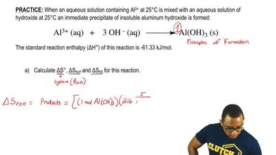 When an aqueous solution containing Al 3+ at 25°C is mixed with an aqueous sol...