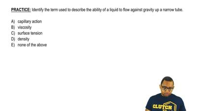 Identify the term used to describe the ability of a liquid to flow against gra...