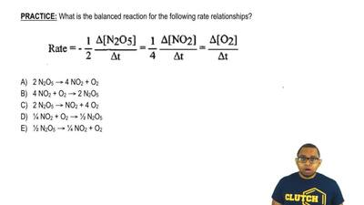 What is the balanced reaction for the following rate relationships?       ...