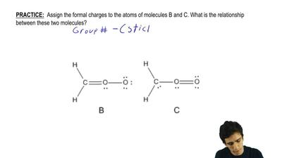 Assign the formal charges to the atoms of molecules B and C. ...