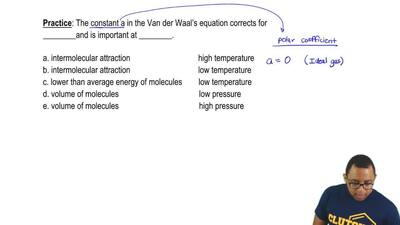 The constant a in the Van der Waal's equation corrects for ________and is impo...