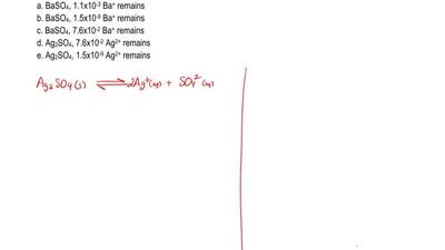 A solution contains 0.015 M Ba2+ and 0.015 Ag+ . Na2SO4 (s) is slowly added to...