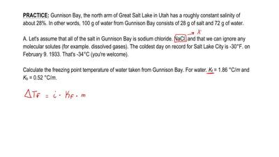 Gunnison Bay, the north arm of Great Salt Lake in Utah has a roughly constant ...