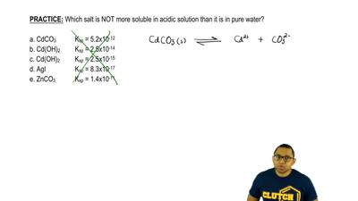 Which salt is NOT more soluble in acidic solution than it is in pure water?  a...