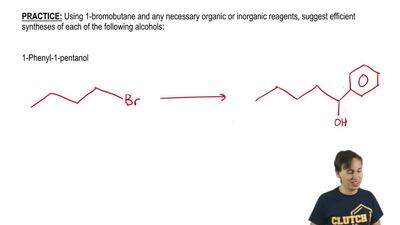 Using 1-bromobutane and any necessary organic or inorganic reagents, suggest e...