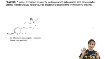 A number of drugs are prepared by reactions in which carbon-carbon bond format...