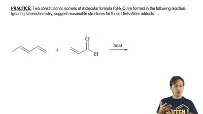 Two constitutional isomers of molecular formula C8H12O are formed in the follo...