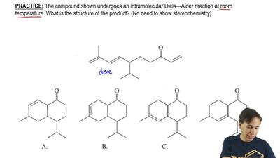 The compound shown undergoes an intramolecular Diels—Alder reaction at room te...