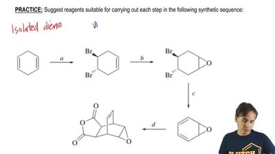 Suggest reagents suitable for carrying out each step in the following syntheti...