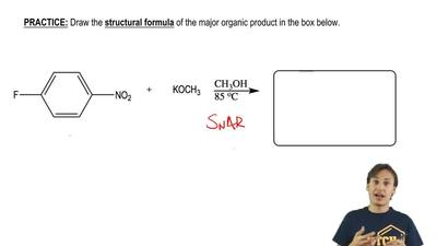 Draw the structural formula of the major organic product in the box below.    ...
