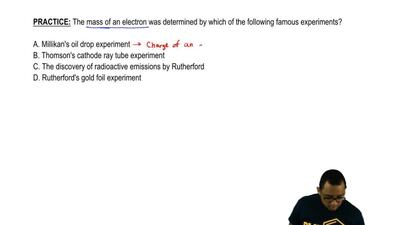 The mass of an electron was determined by which of the following famous experi...