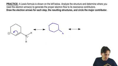 A Lewis formula is shown on the left below. Analyze the structure and determin...