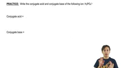 Write the conjugate acid and conjugate base of the following ion: H 2PO4 1- ...