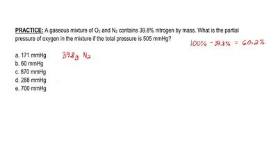 A gaseous mixture of O 2 and N2 contains 39.8% nitrogen by mass. What is the p...