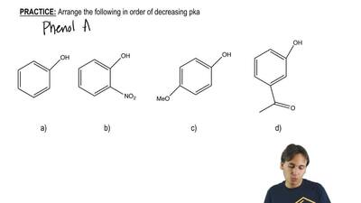 Arrange the following in order of decreasing pka: ...