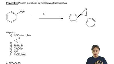Propose a synthesis for the following transformation ...