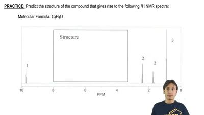 Predict the structure of the compound that gives rise to the following  1H NM...