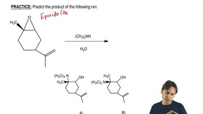 Predict the product of the following rxn: ...